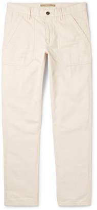 Incotex Slim-Fit Herringbone Cotton and Modal-Blend Trousers