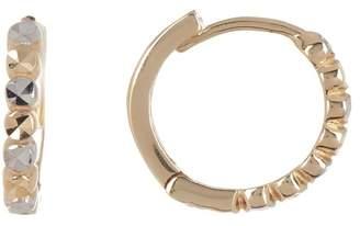 KARAT RUSH 14K White & Yellow Gold Diamond Cut Hoop Earrings