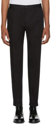 Dolce & Gabbana Black Leopard Side Stripe Trousers