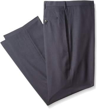 Haggar Men's Big-Tall Performance Tic Weave Classic Fit Suit Separate Pant