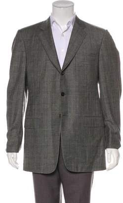 Belvest Wool Glen Plaid Blazer