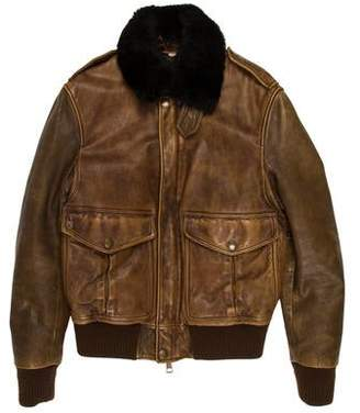 Burberry Leather and Shearling Jacket