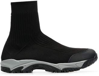 Maison Margiela black knitted sock sneakers