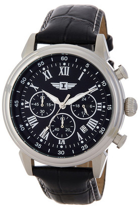 Invicta Men's Casual Croc Embossed Leather Strap Watch $75.97 thestylecure.com