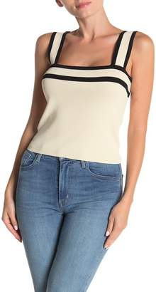 Dee Elly Square Neck Knit Tank Top