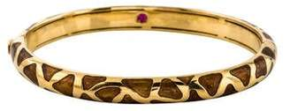 Roberto Coin 18K Enamel Giraffe Bangle