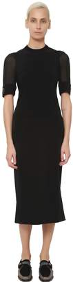 Damir Doma Ribbed Collar Techno Satin Dress