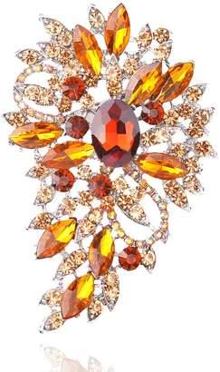 Yilanair Rhinestone Crystal Multicolor Bling Brooch Pin For Wedding