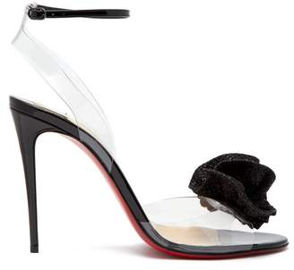 Christian Louboutin Fossiliza 100 Sandals - Womens - Black