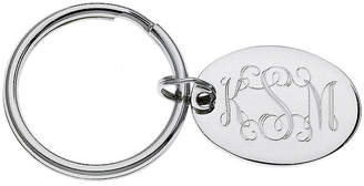 Asstd National Brand Personalized Oval Silvertone Key Ring