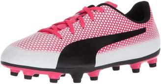 Puma Unisex-Kids Spirit FG Soccer-Shoes, Red Blast Silver Black