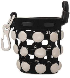 Alexander Wang Studded Leather And Suede Keychain