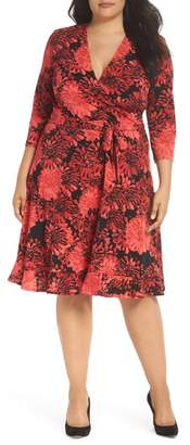 Leota Perfect Faux Wrap Ruffle Dress