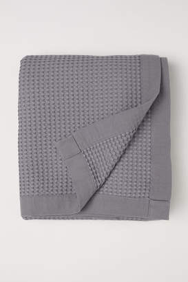 H&M Waffled Cotton Bedspread - Gray