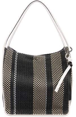 Proenza Schouler Leather-Trimmed Woven Tote