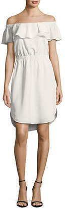 Halston H Off-The-Shoulder Dress