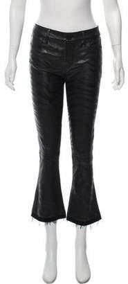 RtA Denim Leather Straight- Leg Pants w/ Tags