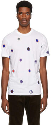 Paul Smith White Scribble Dot T-Shirt
