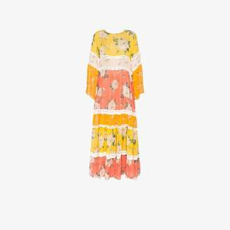 Leone We Are Floral Print Silk Maxi Dress