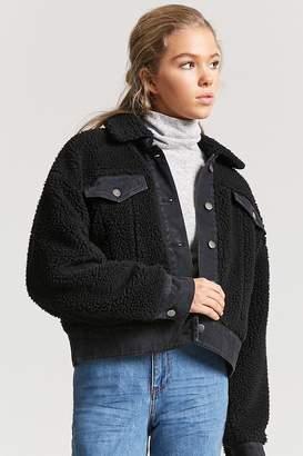 Forever 21 Shearling Denim Jacket