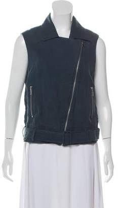 Elizabeth and James Tegan Linen Biker Vest w/ Tags