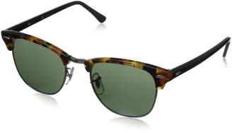 Ray-Ban Unisex RB3016 Clubmaster Sunglasses, Grey Mirror Blue