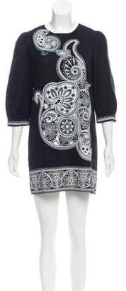 Tibi Paisley Print Mini Dress