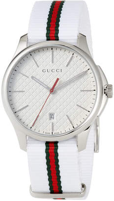 Gucci Men's 40mm G-Timeless Striped Watch
