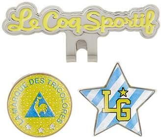 Le Coq Sportif (ル コック スポルティフ) - [ルコックスポルティフゴルフ] クリップマーカー(2個付き) QQCLJX52 BLYL BLYL(ブルー/イエロー)