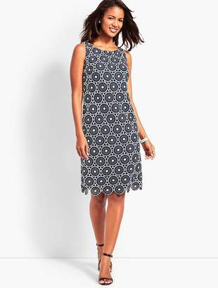 Talbots Scallop-Hem Lace Shift Dress