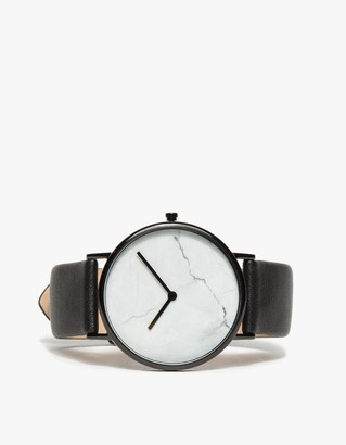 White Marble/Black Band Watch $189 thestylecure.com