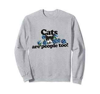Cats are people too sweatshirt vintage style cat person