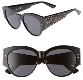 Christian Dior Lady 55mm Studded Cat Eye Sunglasses