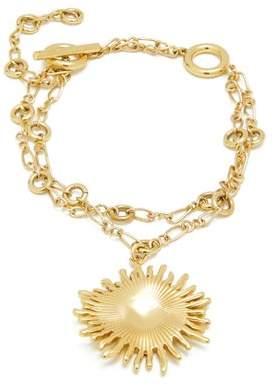 Ellery - Crescent Sun Charm Double Chain Bracelet - Womens - Gold