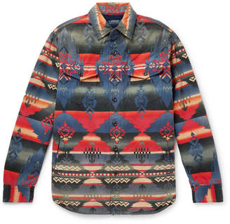 Polo Ralph Lauren Sherpa-Lined Cotton-Jacquard Shirt Jacket