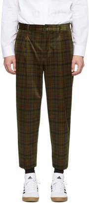 Comme des Garcons Homme Deux Homme Deux Khaki Check Trousers