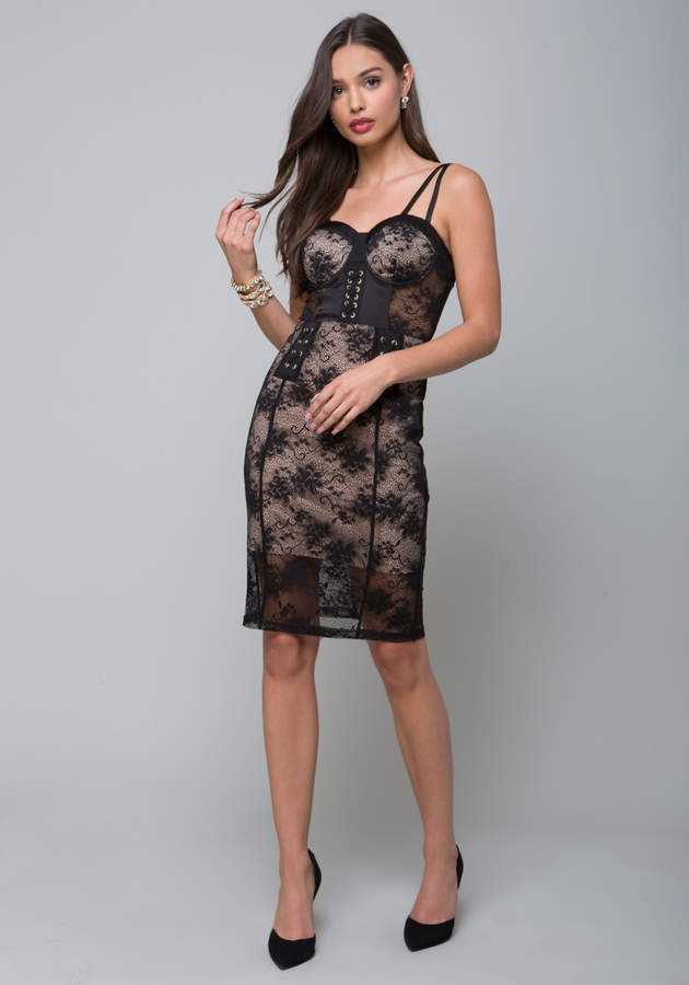 Mesh Lace Corset Dress