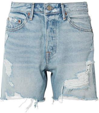 GRLFRND Jourdan Distressed Denim Shorts - Light denim