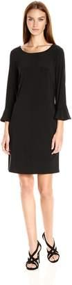 Laundry by Shelli Segal Women's Matte Jersey Flutter Sleeve Dress