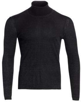 John Varvatos Silk Cashmere Turtleneck Sweater