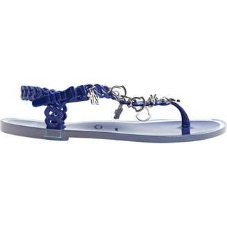 Moncler Blue Plastic Sandals