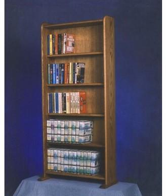 Wood Shed 500 Series 200 DVD Multimedia Storage Rack Wood Shed