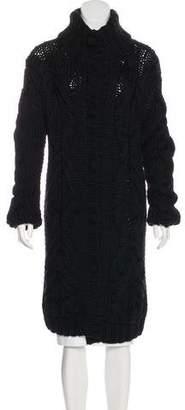Dolce & Gabbana Virgin Wool Longline Cardigan