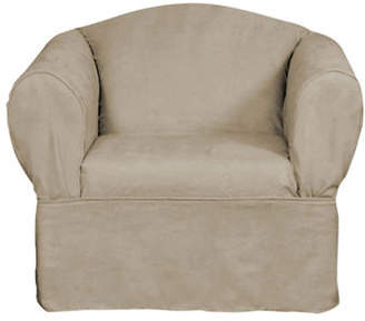 Sure Fit Luxury Suede One-Piece Relaxed Fit Chair Slipcover