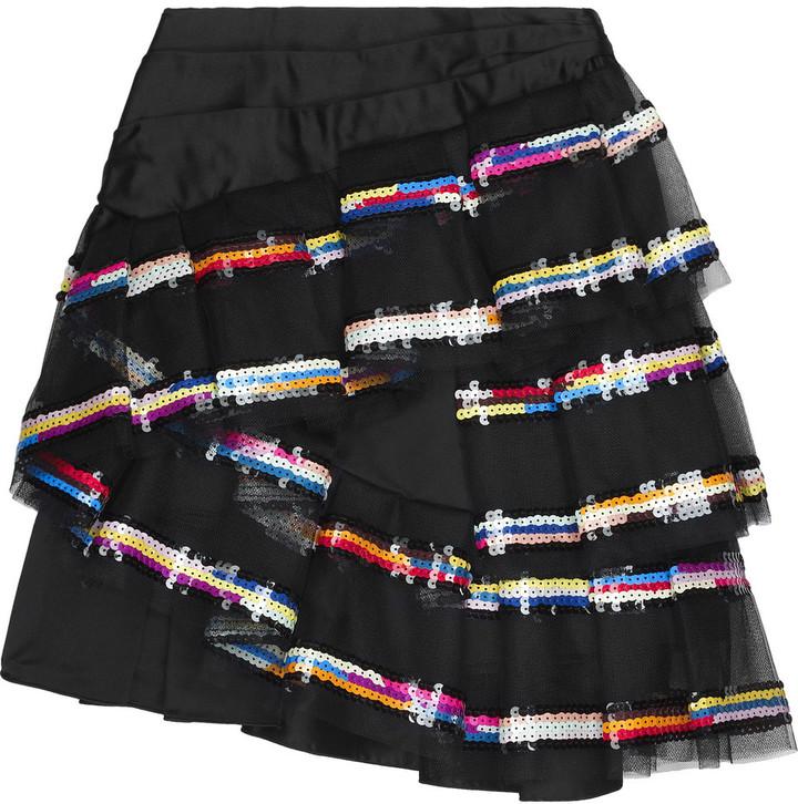 Marc Jacobs Silk sequin ruffle skirt