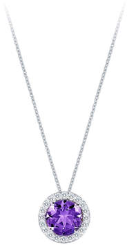 Carrington 18ct White Gold 1.60ct Amethyst and 0.20cttw Diamond Pendant