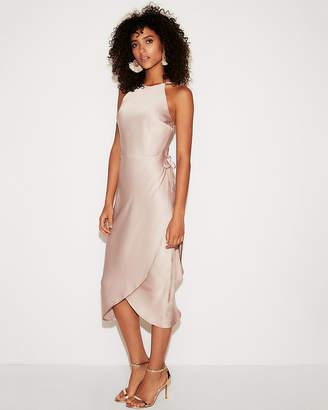 Express Strappy Wrap Front Sheath Dress