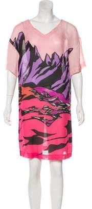 Missoni Semi-Sheer Printed Dress