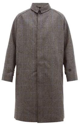 Studio Nicholson Romer Raglan Sleeve Wool Overcoat - Mens - Charcoal