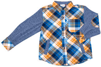 Hudson Fore!! Axel & Fore Axel & Plaid Contrast Elbow Patch Shirt